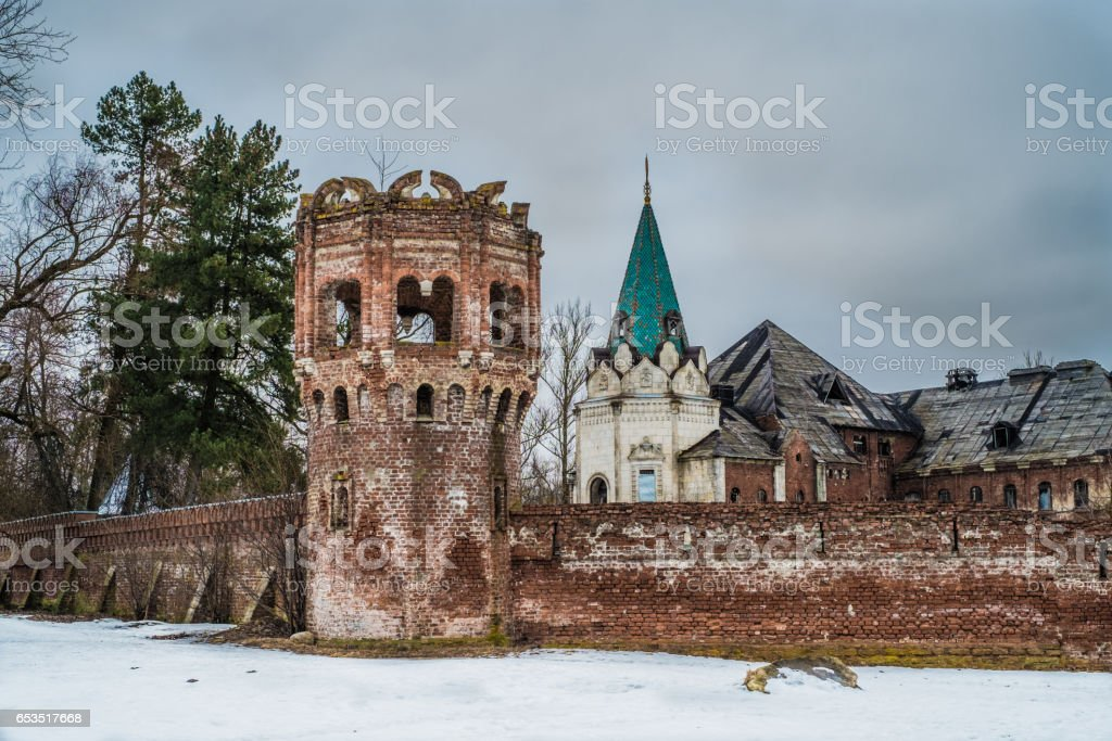 An old castle in Tsarskoye Selo, Pushkin,  Saint Petersburg stock photo