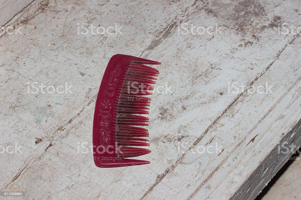 an old comb stock photo