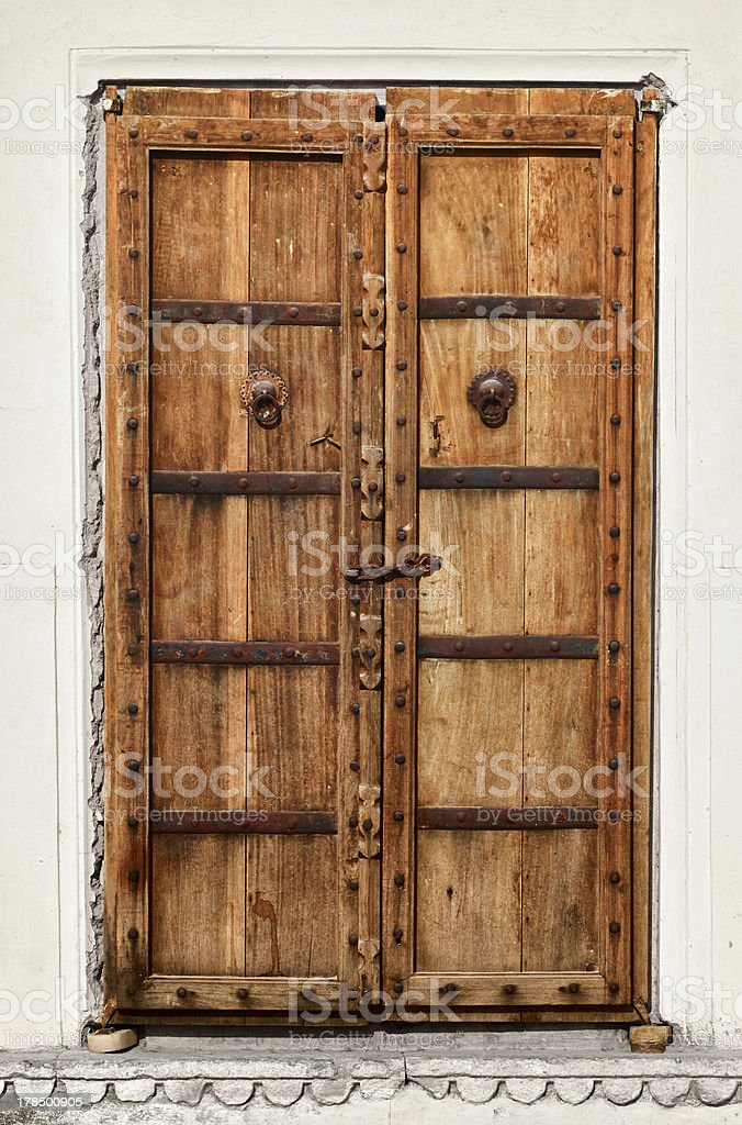 An old dilapidated wooden door royalty-free stock photo