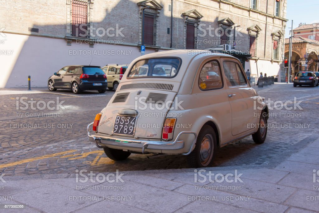 An old Fiat 500 stock photo