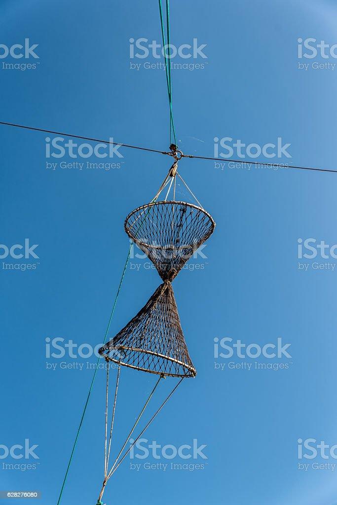 an old fishing net stock photo