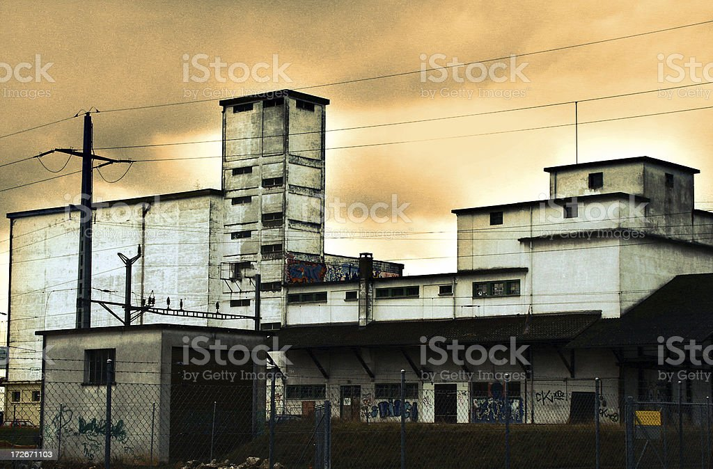 an old industrial building royalty-free stock photo