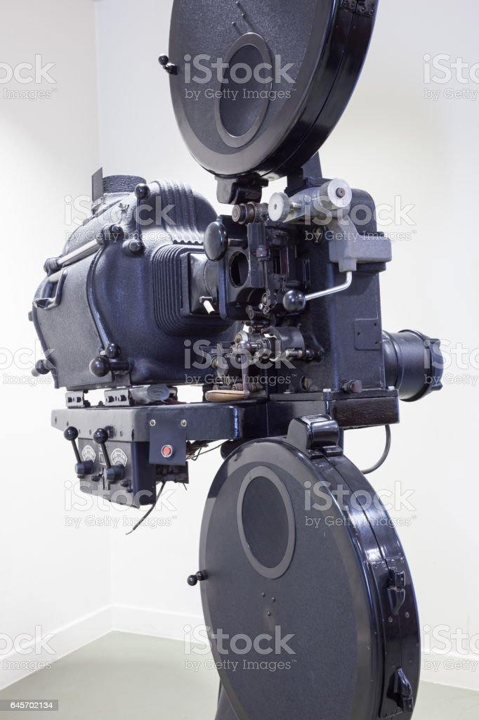 an old projector stock photo