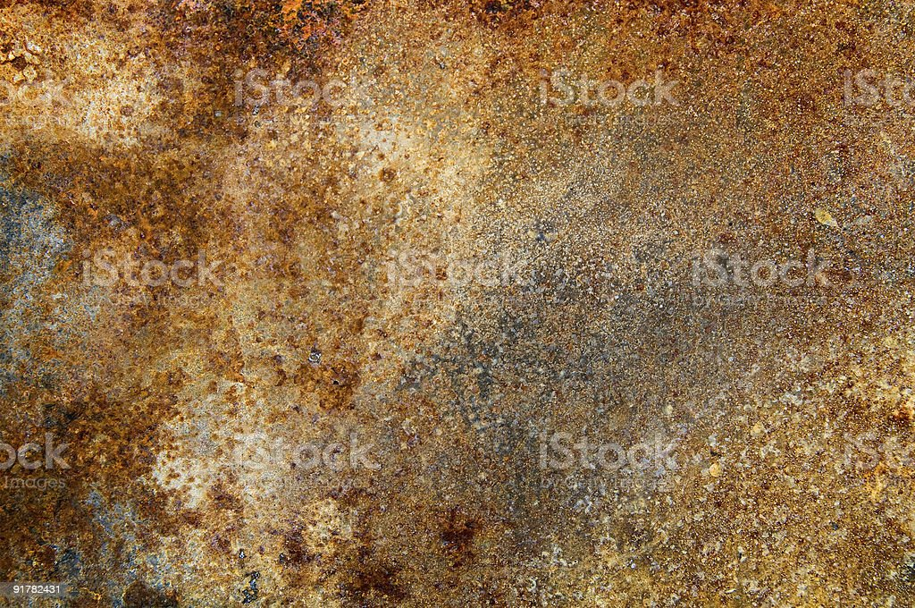 An old rusty plate of metal material royalty-free stock photo
