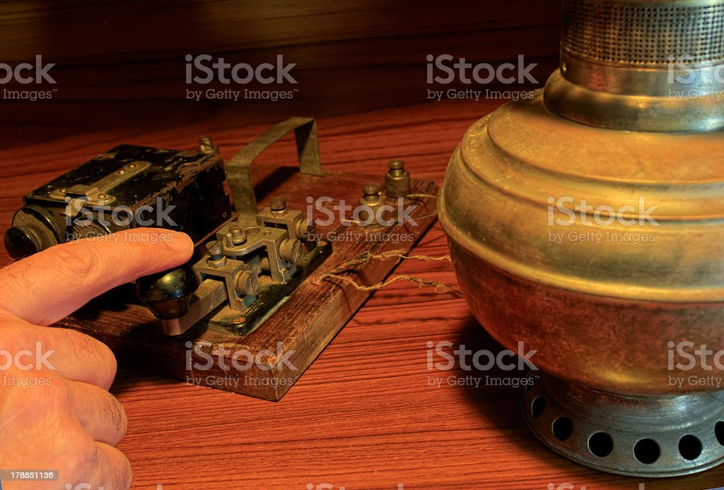 An old telegraph system. stock photo