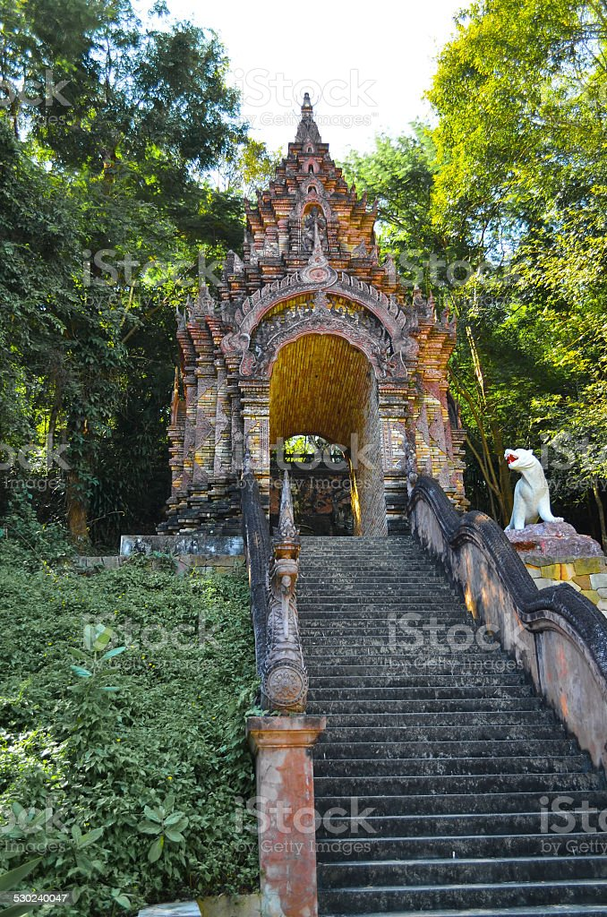 an old temple in Thailand stock photo