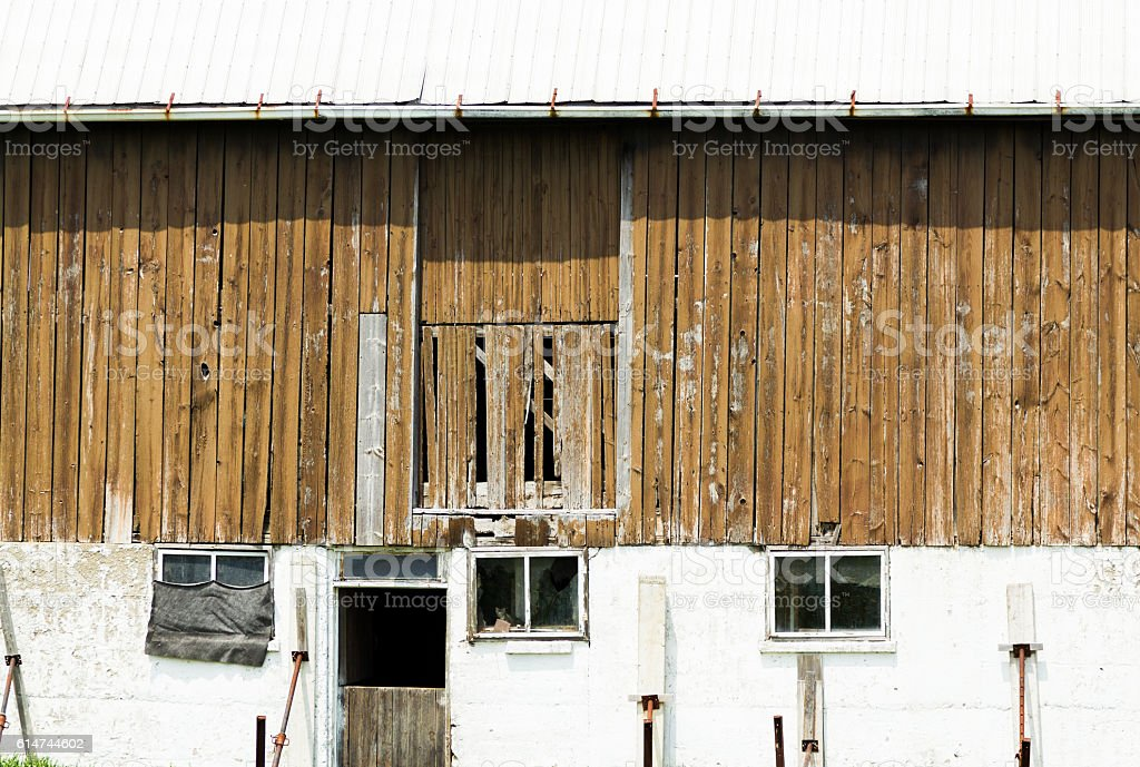 An old wooden barn. royalty-free stock photo