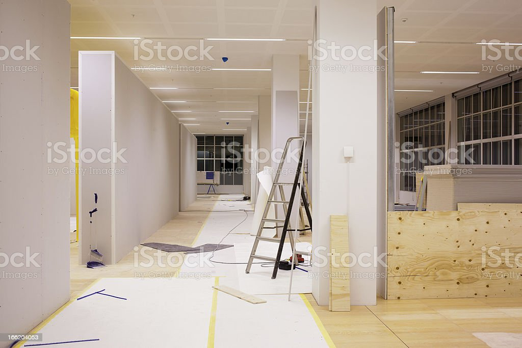 An on-going office renovation  royalty-free stock photo