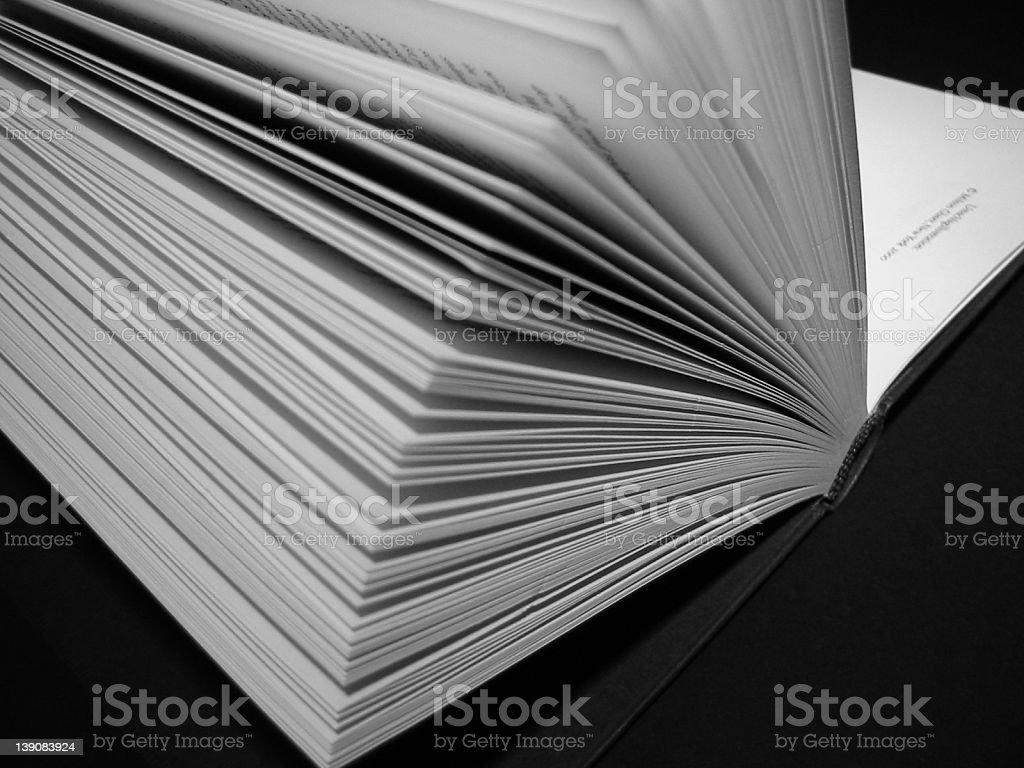 an open book II stock photo