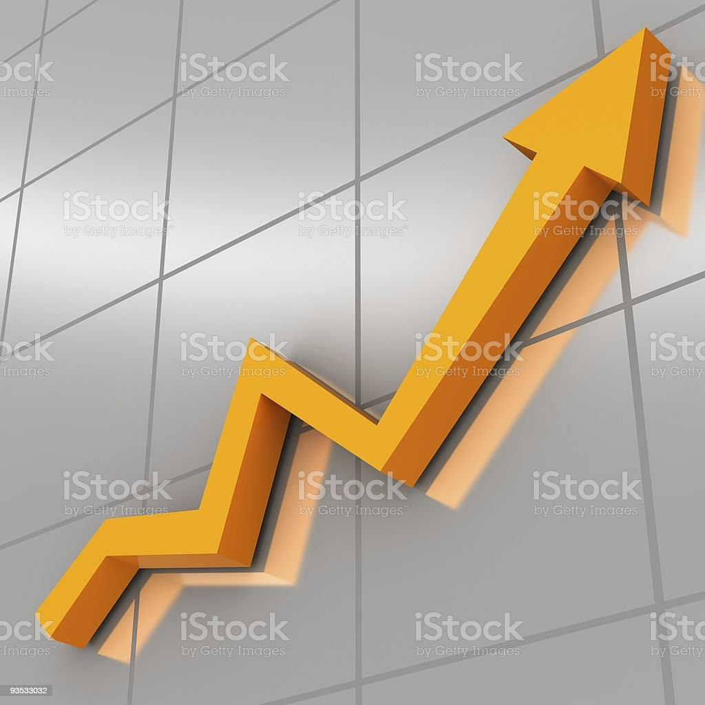 An orange and gray business graph royalty-free stock photo