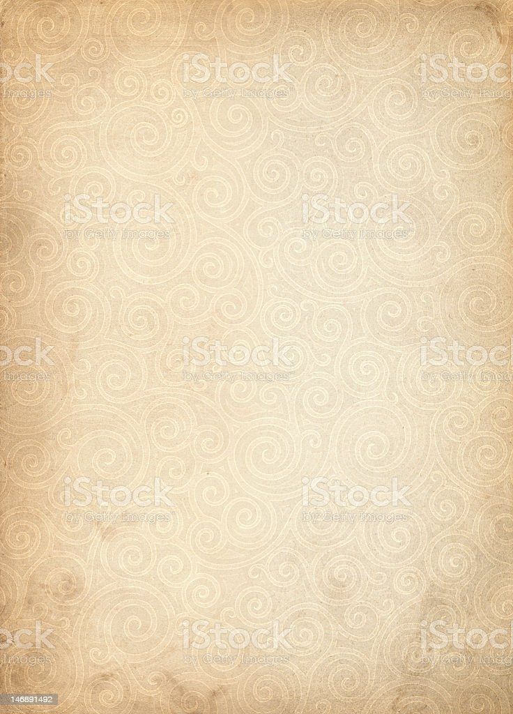 An ornamental background with faded curls stock photo