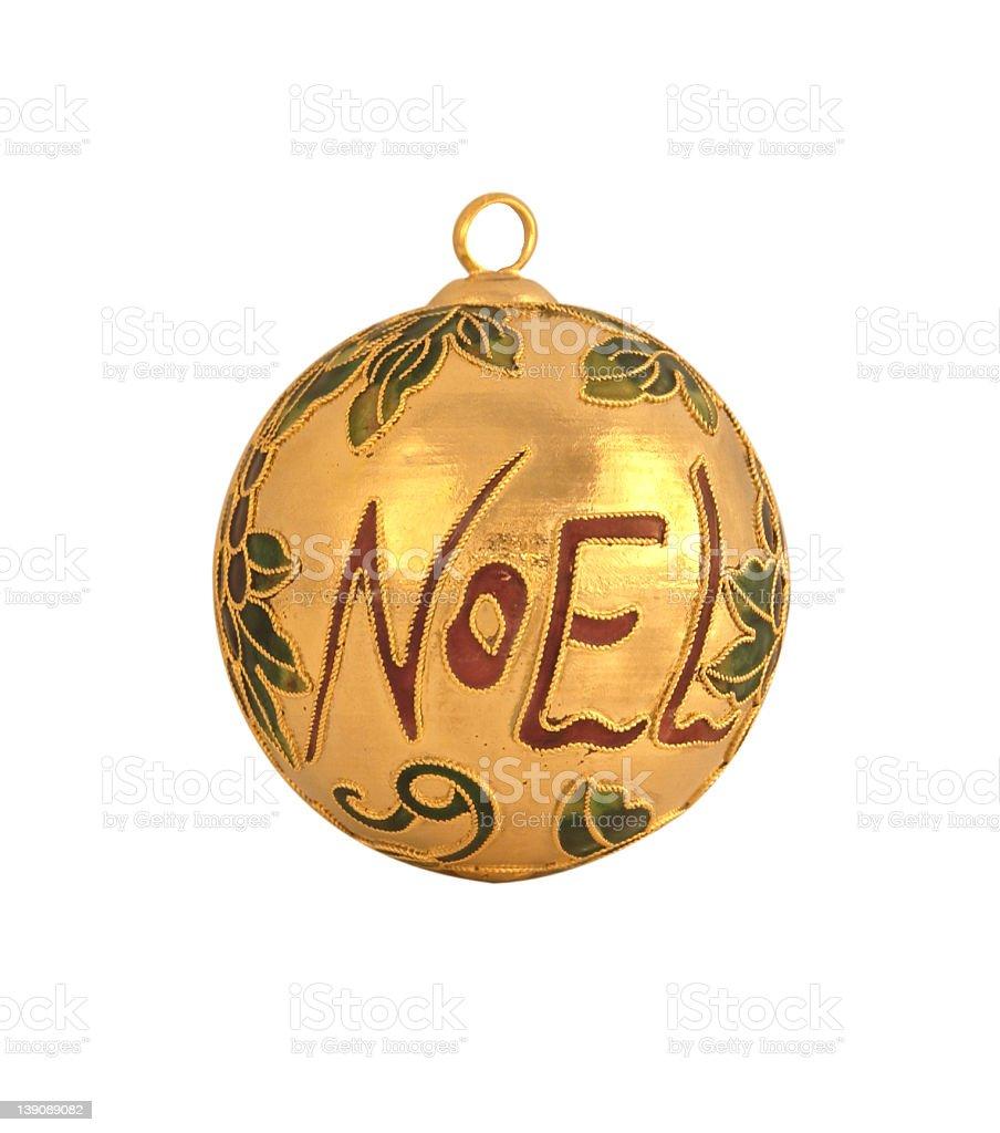 An Ornate Christmas Ball royalty-free stock photo