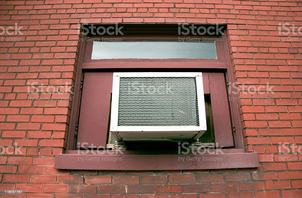 An outdoor air conditioning unit stock photo