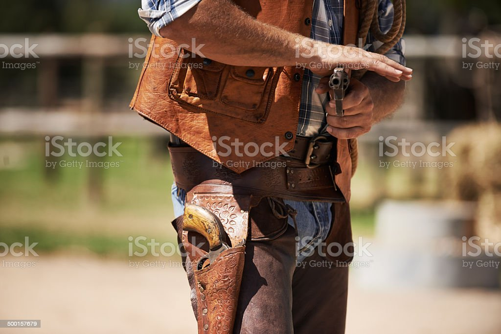 An outlaw with a quick draw royalty-free stock photo