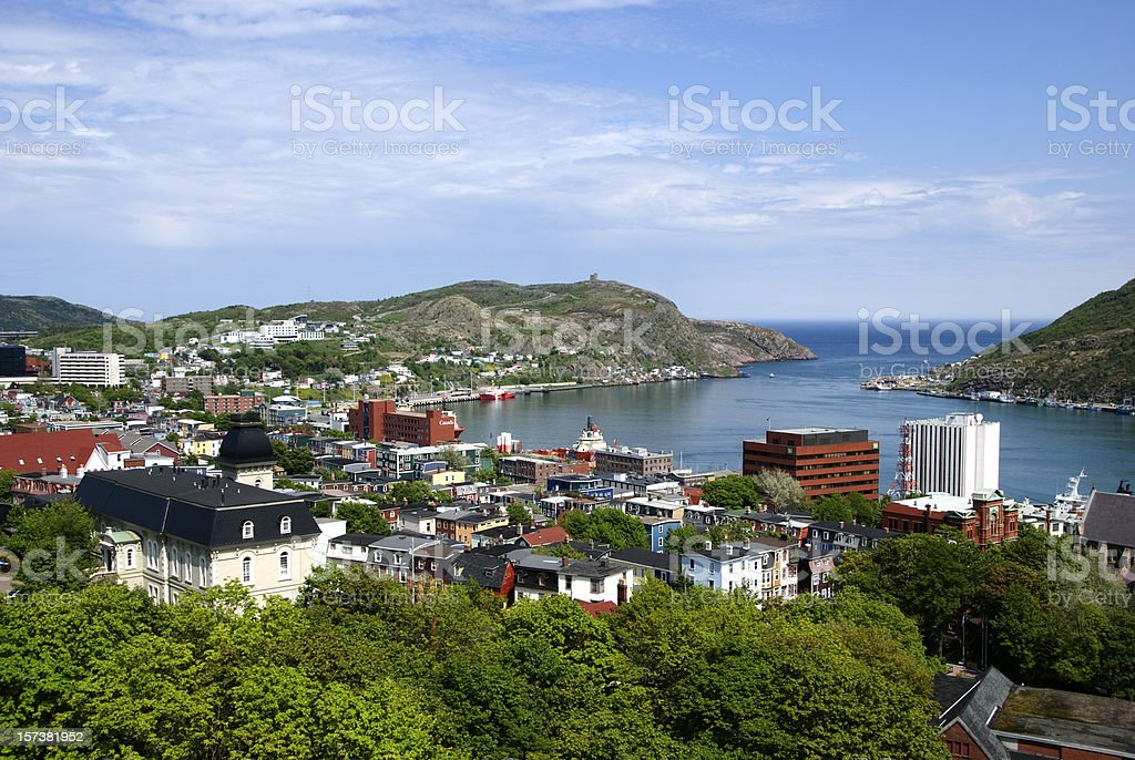 An overhead view of St Johns Barbour stock photo
