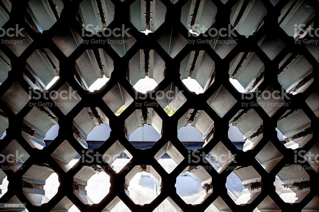 an see-through wall stock photo