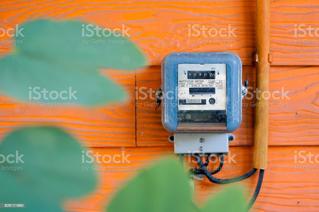 An Smart Meter in soft light stock photo
