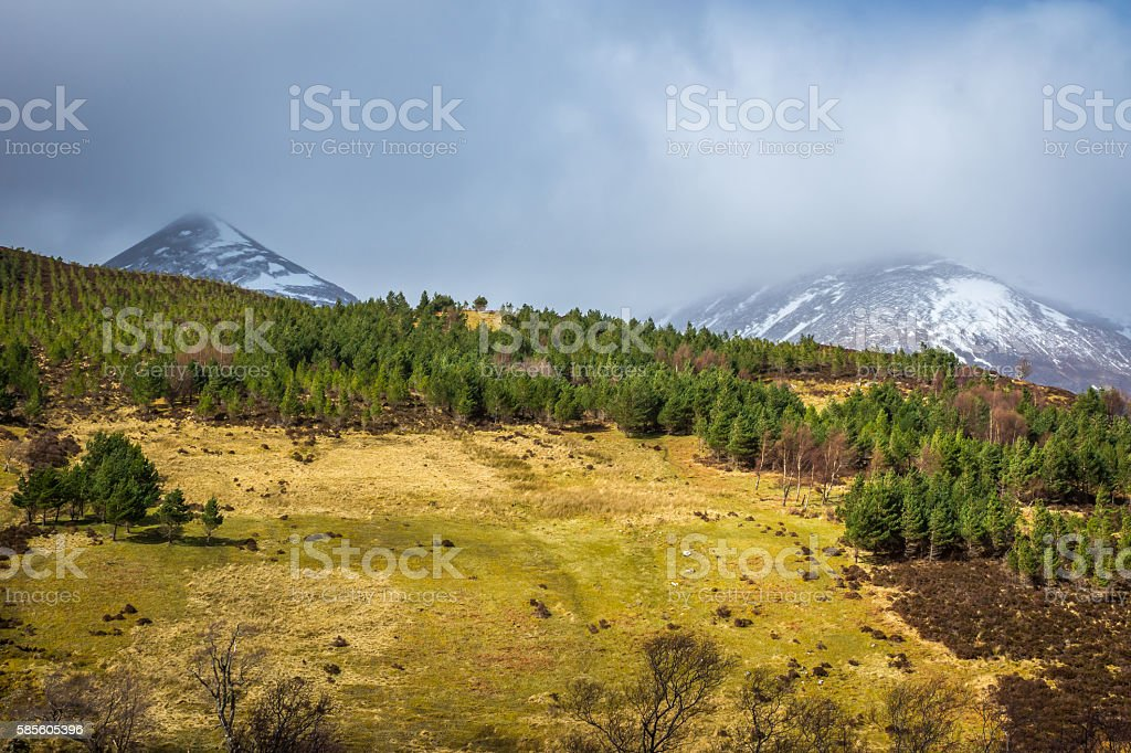 An Teallach Hills stock photo