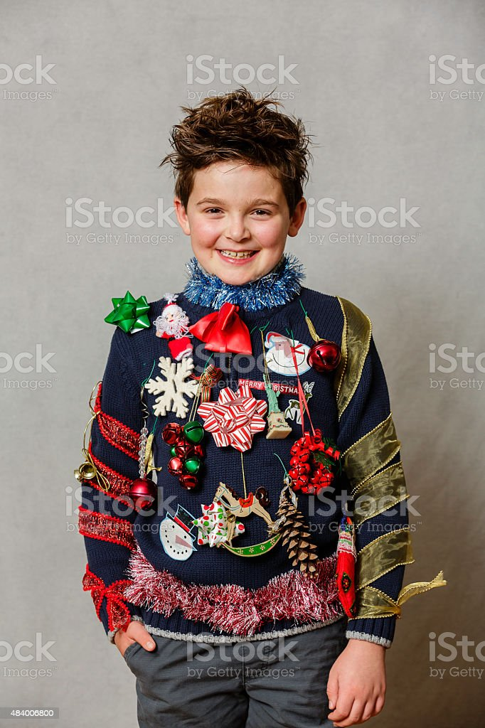 An ugly Christmas Sweater stock photo