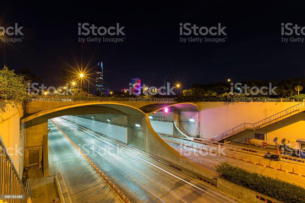 An underwater Saigon River Tunnel stock photo