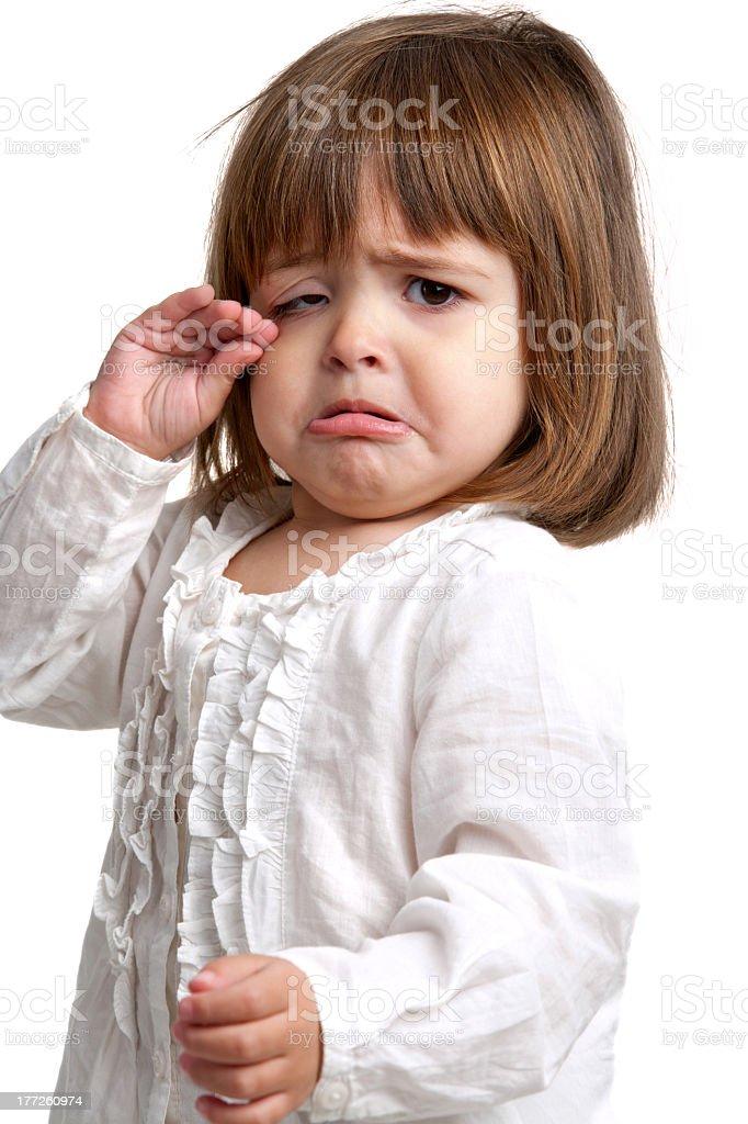 Malheureux little girl Pleurer photo libre de droits