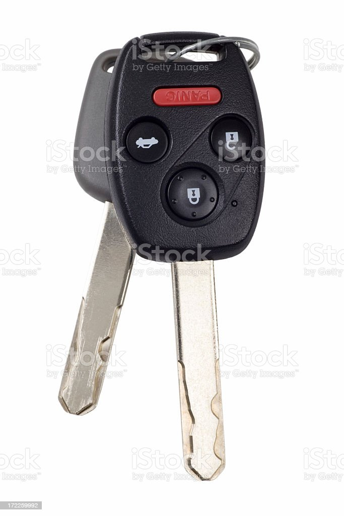 An up close picture of a Honda key stock photo