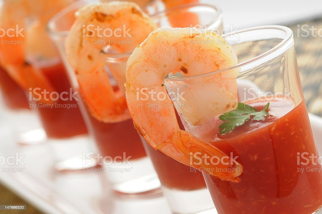 An up close picture of a seafood appetizer stock photo