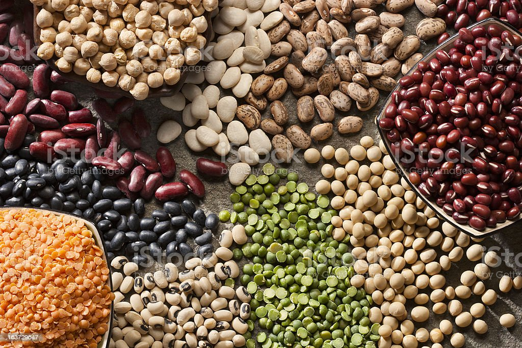 An up close picture of organic legumes stock photo