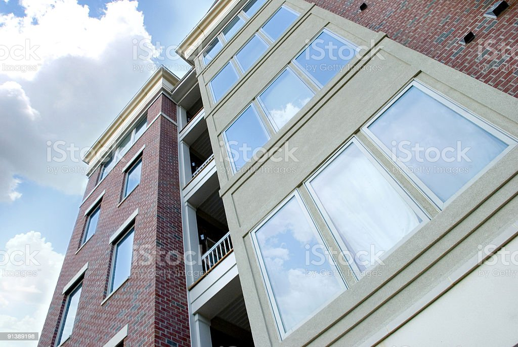 An up shot of a residential building stock photo