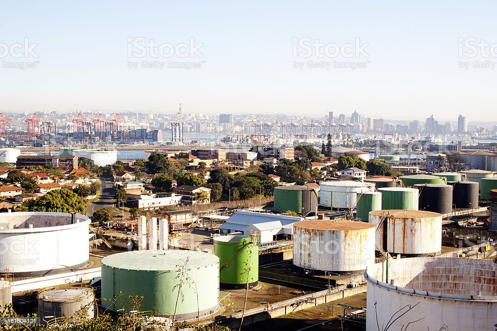 An Urban Residential and Industrial Landscape royalty-free stock photo