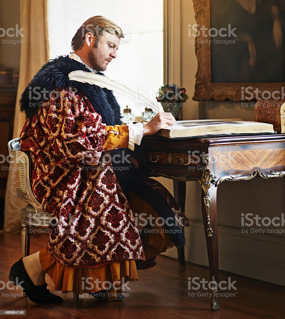 An urgent letter to my king and liege stock photo