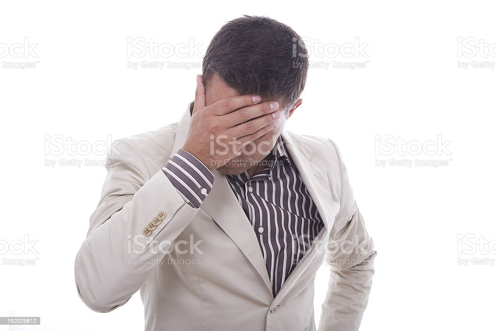 an worried man royalty-free stock photo