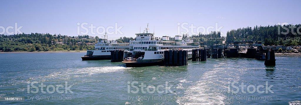 Anacortes Ferry Landing, San Juan Islands, United States stock photo
