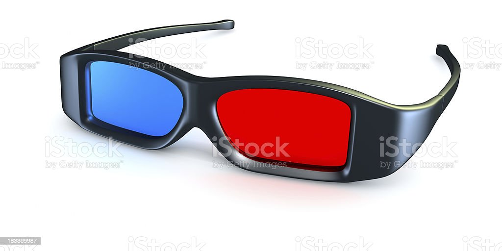 Anaglyph 3D Glasses. stock photo