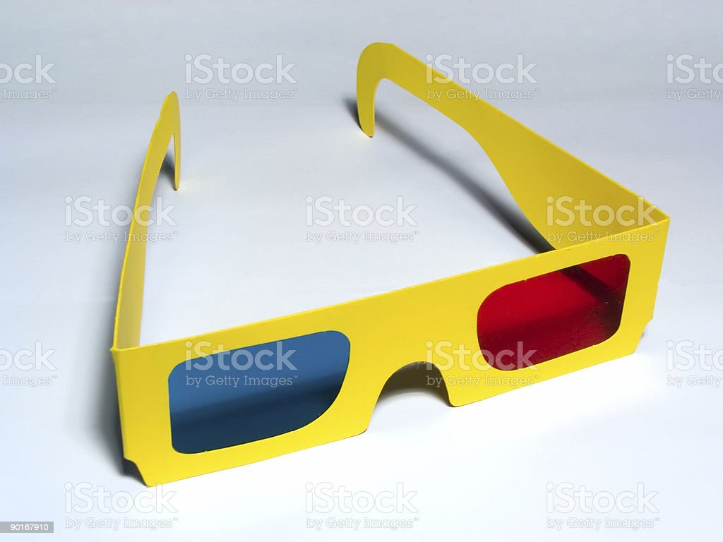 Anaglyph Glasses royalty-free stock photo