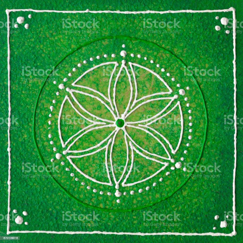Anahata the heart chakra stock photo