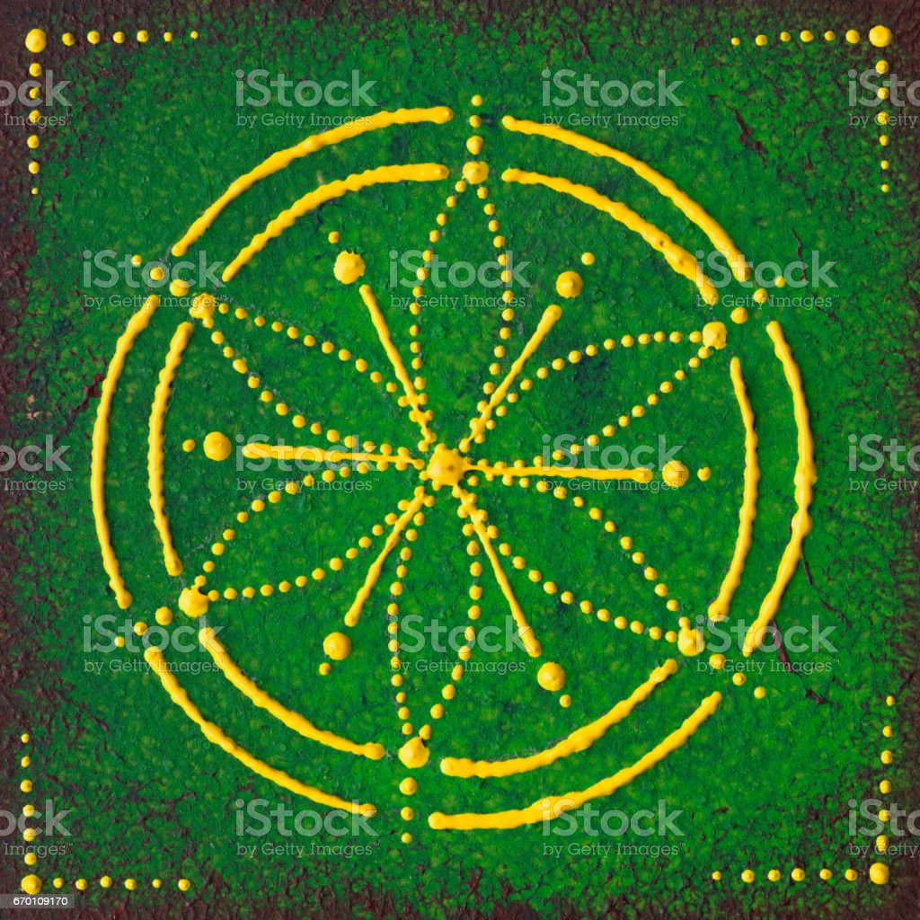 Anahata the heart chakra stock photo