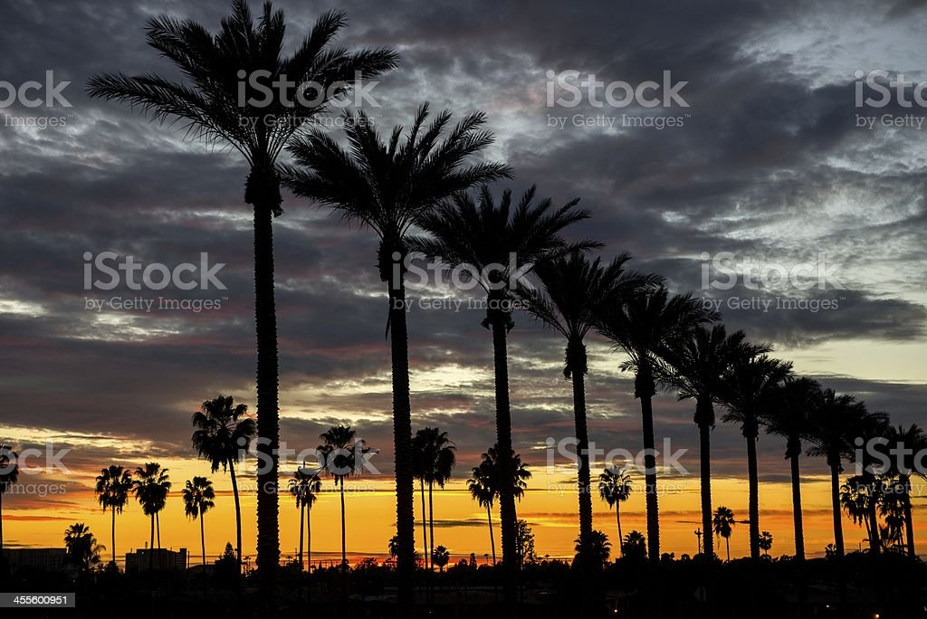 Anaheim Sunset stock photo