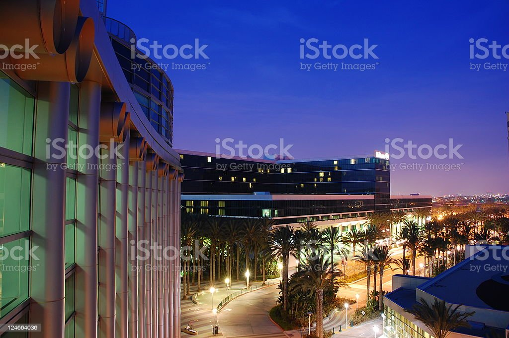 Anaheim twilight stock photo