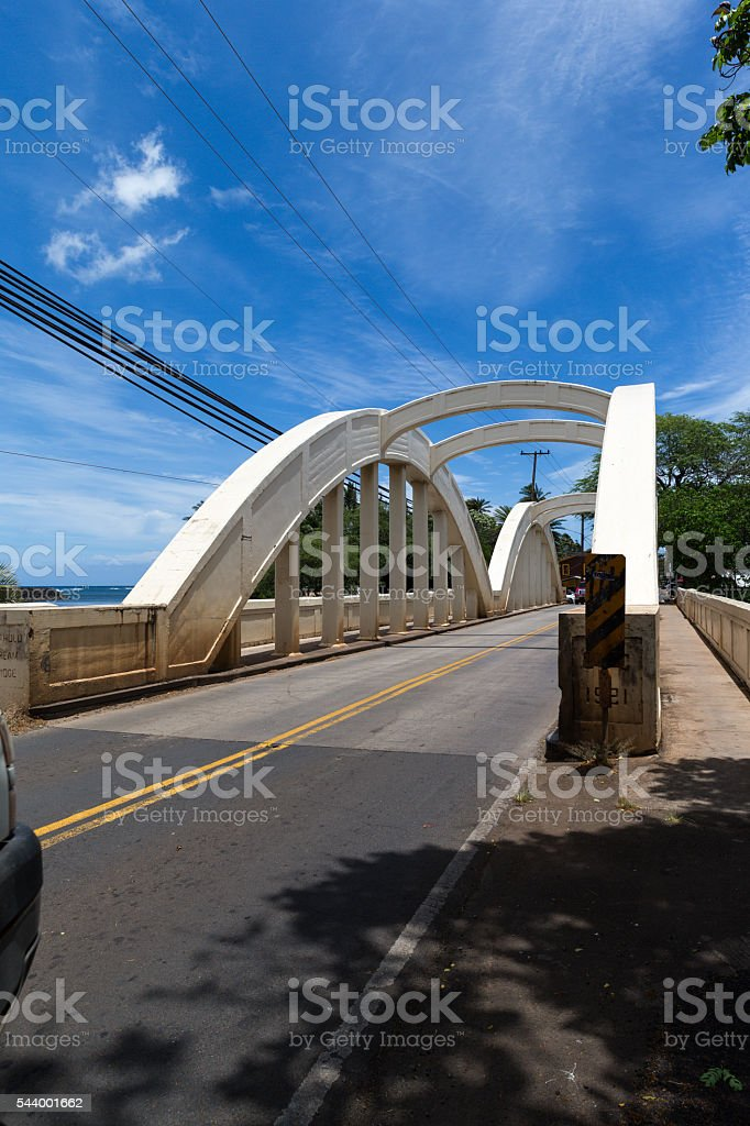 Anahulu Stream Bridge 4 stock photo