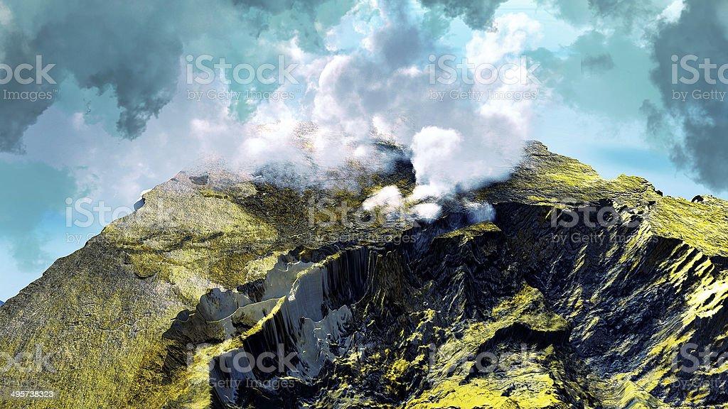 Anak Krakatau erupting stock photo