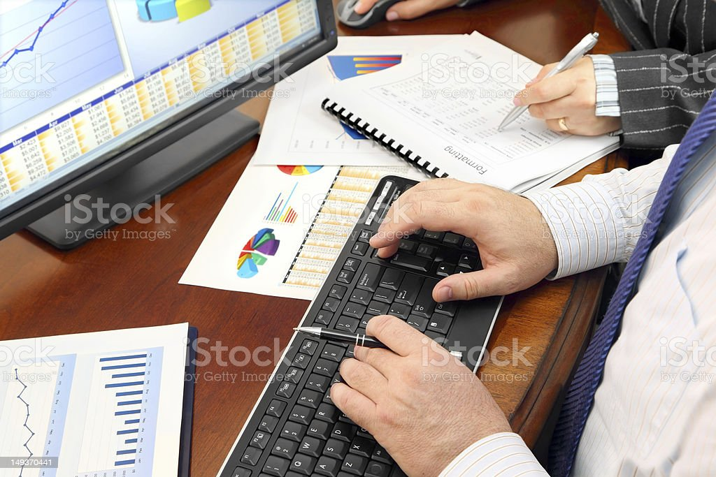 Analizing Data in the Office royalty-free stock photo