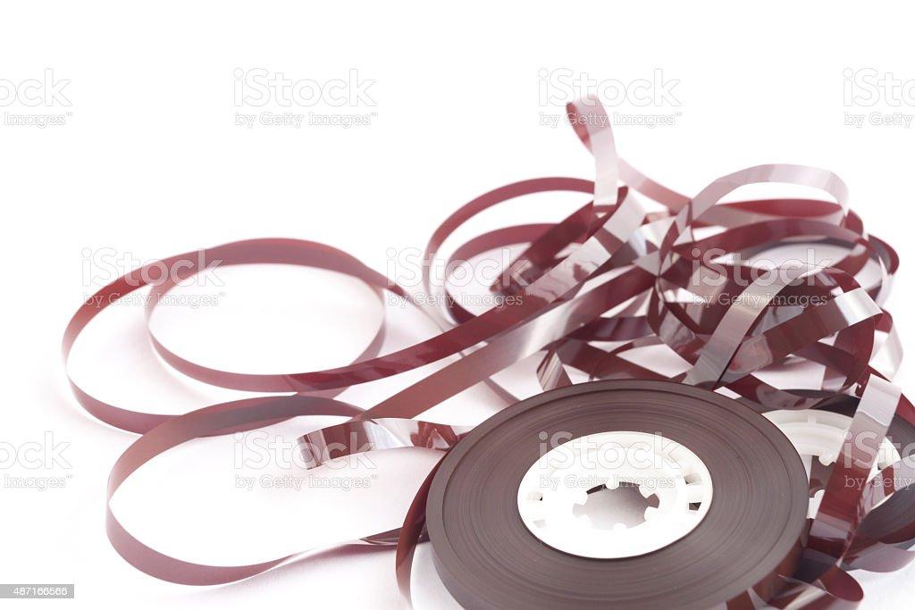 Analog Audio Tape stock photo
