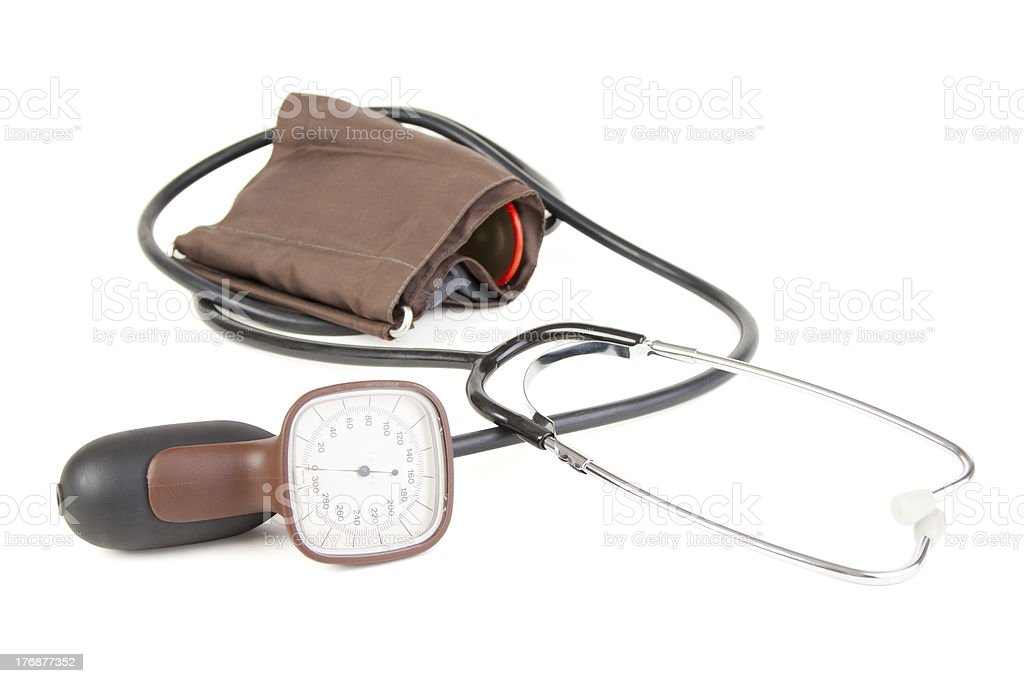 Analog blood pressure meter royalty-free stock photo