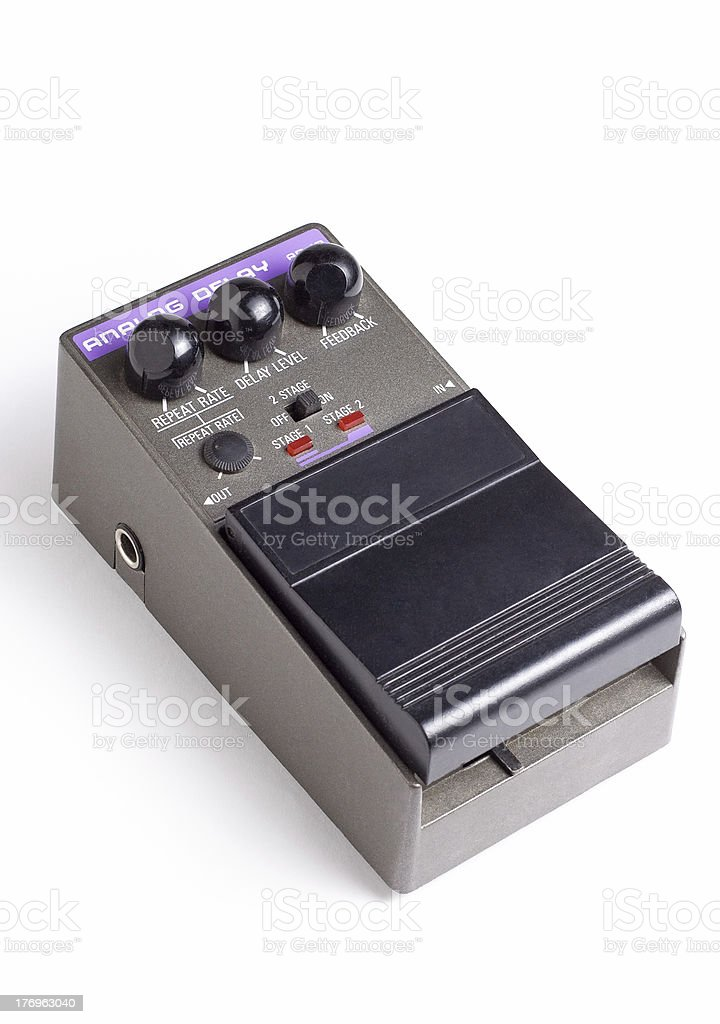 Analog delay efx pedal stock photo