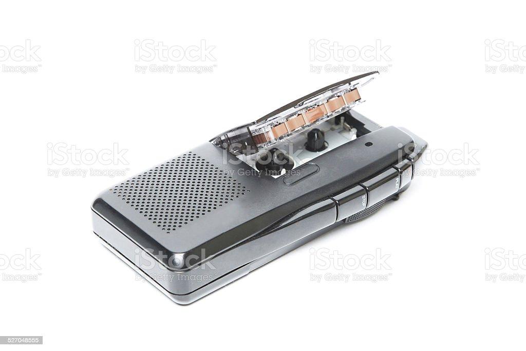 Analog dictaphone stock photo