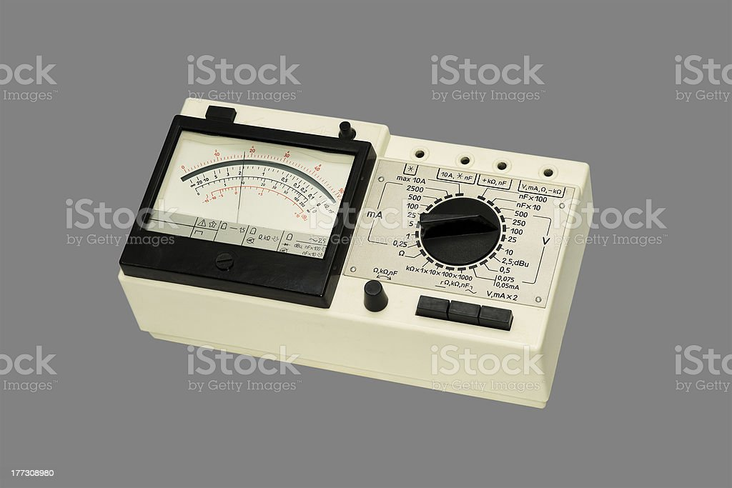 Analog Multimeter. stock photo