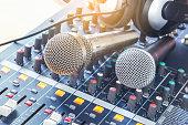 Analog music recording equipment.