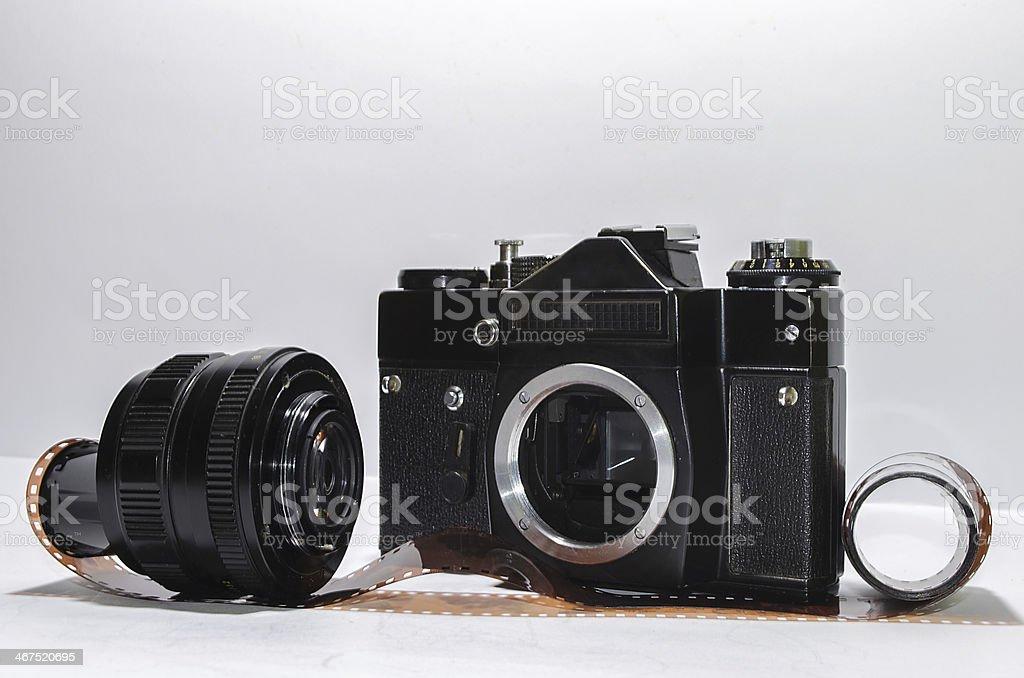Analog photo camera royalty-free stock photo