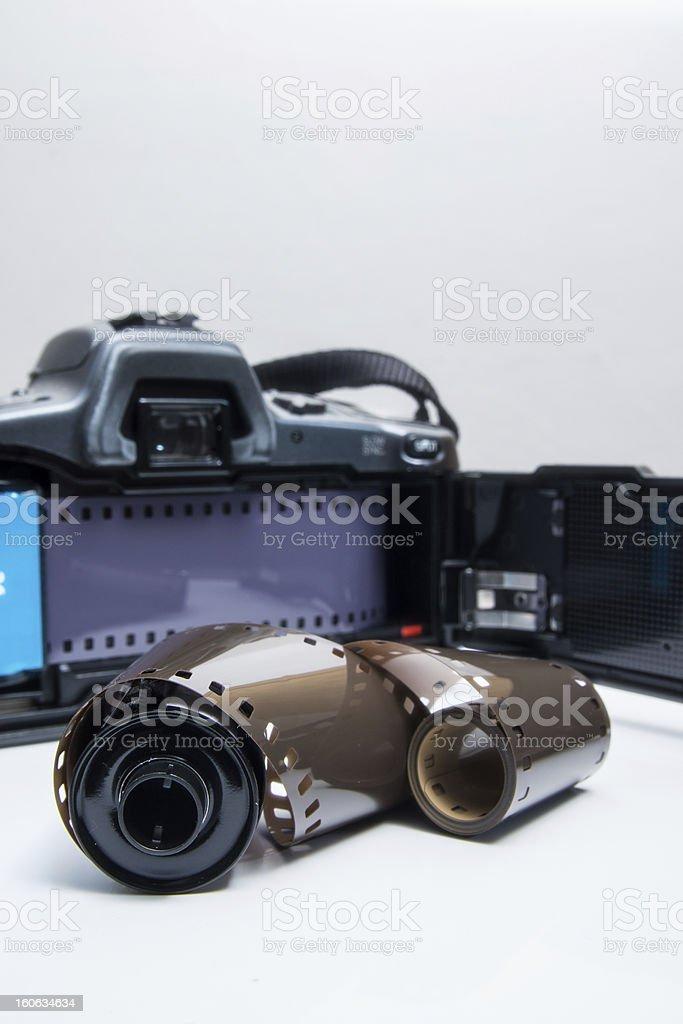 Analog reflex camera royalty-free stock photo